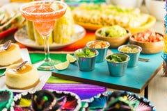 De lijst van het fiestabuffet royalty-vrije stock foto