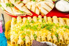 De lijst van het fiestabuffet royalty-vrije stock afbeeldingen