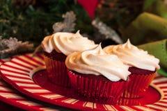 De Lijst van het Kerstmisdiner met Dessert Stock Afbeelding