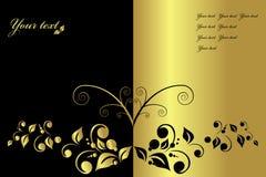 De lijst van het menu of van de wijn, vector Stock Foto's