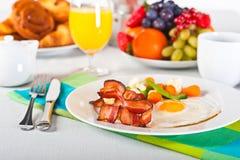 De lijst van het ontbijt stock afbeelding