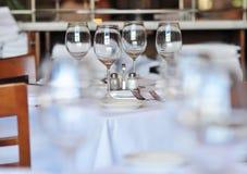 De Lijst van het restaurant Royalty-vrije Stock Foto's