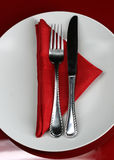 De Lijst van het restaurant Royalty-vrije Stock Afbeeldingen
