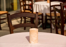 De Lijst van het restaurantterras Stock Afbeelding