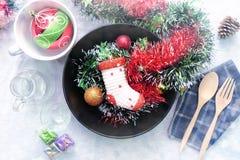 De lijst van Kerstmis het plaatsen Stock Foto
