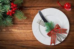 De lijst van Kerstmis het plaatsen Hoogste mening royalty-vrije stock afbeelding