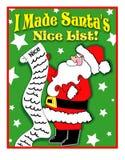 De Lijst van Nice van de kerstman vector illustratie