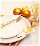 De lijstdecoratie van Kerstmis van de luxe Royalty-vrije Stock Foto