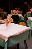 De lijsten van het restaurant Stock Foto's
