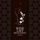 De lijstontwerp van de wijn Stock Afbeeldingen