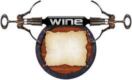 De lijstontwerp van de wijn Stock Afbeelding