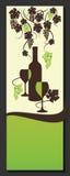 De lijstontwerp van de wijn Wijnstoksamenvatting Vector Royalty-vrije Stock Foto's