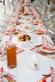 De lijstreeks van de catering Stock Afbeeldingen