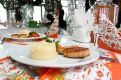 De lijstreeks van de catering Royalty-vrije Stock Foto's