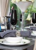 De lijstreeks van het diner royalty-vrije stock afbeelding