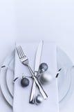 De lijstreeks van restaurantkerstmis Royalty-vrije Stock Foto's