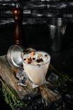 De Likeur van de koffieroom van brandewijn en whisky stock foto