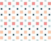 De lilla kulöra fyrkanterna på en vit mosaikbakgrund stock illustrationer