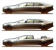 De Limousine, Brougham en Landualet van het autolichaam Stock Afbeelding