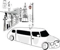 De limousine van het huwelijk royalty-vrije illustratie