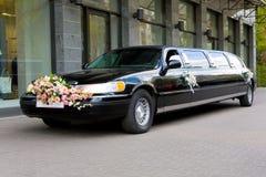 De limousine van het huwelijk Stock Foto's