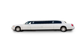 De Limousine van Isolted stock afbeeldingen