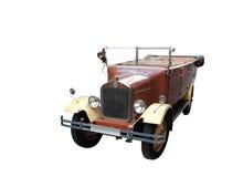 De limousine van Retrol op witte backgroung stock foto's