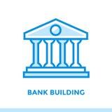 De lineaire pictogrambank BOUW van financiën, het beleggen Geschikt voor mobi stock afbeeldingen