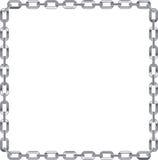 De link van de ketting frame op witte achtergrond Royalty-vrije Illustratie