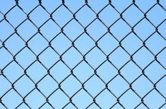 De Link van de ketting op Blauw Stock Foto