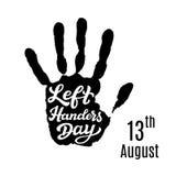 De linkerhanders-affiche van de Dagtypografie Stock Foto