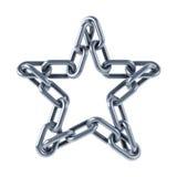 De links van de ketting die in een ster worden verenigd vector illustratie