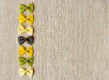 De lint gestalte gegeven achtergrond van de deegwaren abstracte textuur Royalty-vrije Stock Afbeeldingen