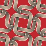 De linten naadloos patroon van de kruising Vector Illustratie