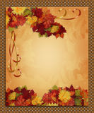 De linten van de Grens van de Daling van de Herfst van de dankzegging Stock Afbeelding