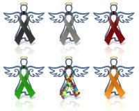 De linten van de het overzichtsvoorlichting van engelen Royalty-vrije Stock Foto