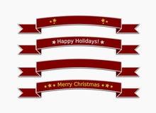 De linten van Kerstmis Stock Afbeelding