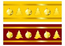 De linten van Kerstmis Royalty-vrije Stock Fotografie