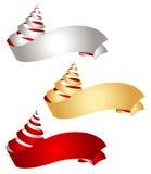 De linten van Kerstmis Royalty-vrije Illustratie