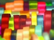 De linten van zakkenbogen zoals regenboog in de rechterkant Stock Afbeelding