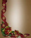 De lintenbollen van de Grens van Kerstmis stock illustratie
