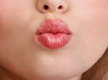De lippen van de vrouw Stock Foto