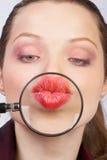 De lippen van de vrouw