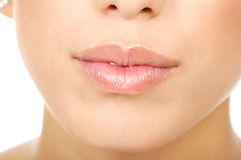 De lippen van de vrouw Royalty-vrije Stock Afbeeldingen