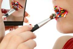 De Lippen van het suikergoed royalty-vrije stock foto
