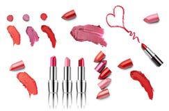 De lippenstiftschoonheid maakt omhoog hartliefde Stock Fotografie
