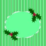 De listras verdes de cumprimento do Natal Fotografia de Stock