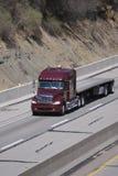 De lit plat camion semi photo stock