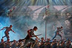De literaire show om de 70ste verjaardag van de overwinning van de Chinese anti-Japanse Oorlog te herdenken Stock Foto