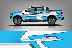 De Livreiontwerp van de vrachtwagenomslag Het klaar ontwerp van de drukomslag voor Bestelwagen - Het vector royalty-vrije illustratie
